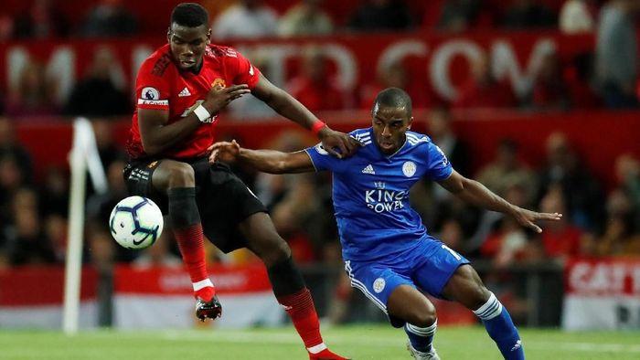 Paul Pogba mencetak satu gol ketika Manchester United mengalahkan Leicester City 2-1 (Foto: Andrew Boyers/Action Images via Reuters)
