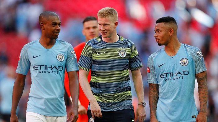 Gelandang Manchester City Kevin De Bruyne (tengah) siap tampil pada laga melawan Arsenal (Foto: John Sibley/Action Images via Reuters)