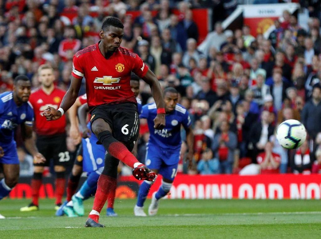 Penalti Pogba Bawa MU Memimpin di Babak Pertama