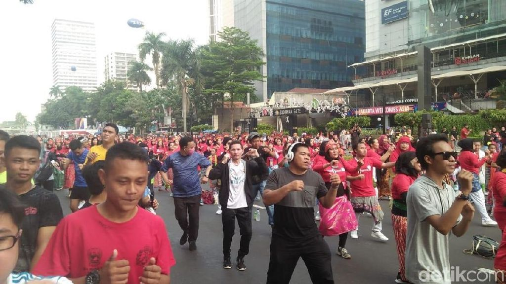 Sambut Asian Games 2018, Flashmob Tari Tradisional Ramaikan CFD