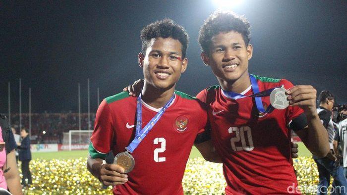 Bagus Kahfi dan Bagas Kaffa, si kembar dari timnas U-16 (Foto: Suparno/detikSport)