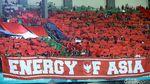 Merah-Putih Suporter di Stadion Patriot untuk Timnas U-23