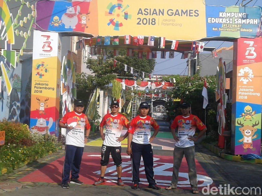 Agustusan, Kampung di Sidoarjo Ini Bertema Asian Games