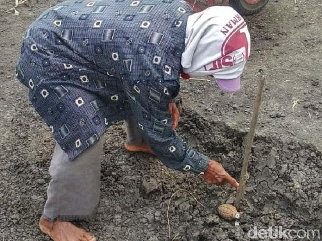 Warga Grobogan Temukan Granat di Ladang