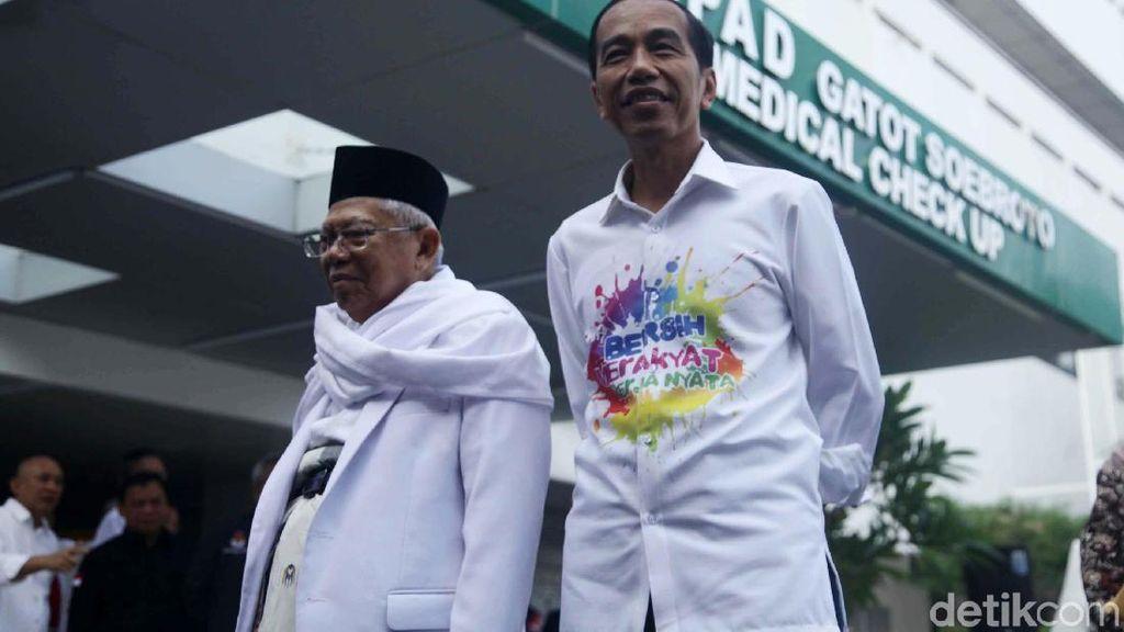 Foto: Jokowi-Maruf Jalani Tes Kesehatan di RSPAD
