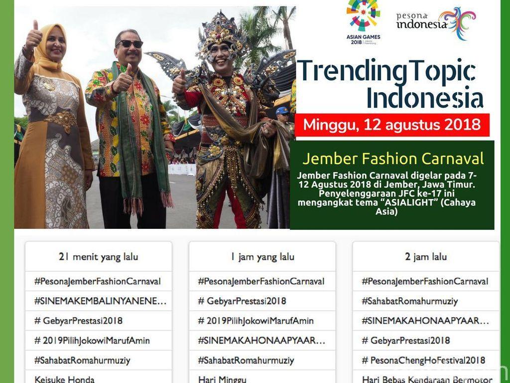 Jember Fashion Carnaval jadi Trending Topic Medsos, Ini Kata Menpar