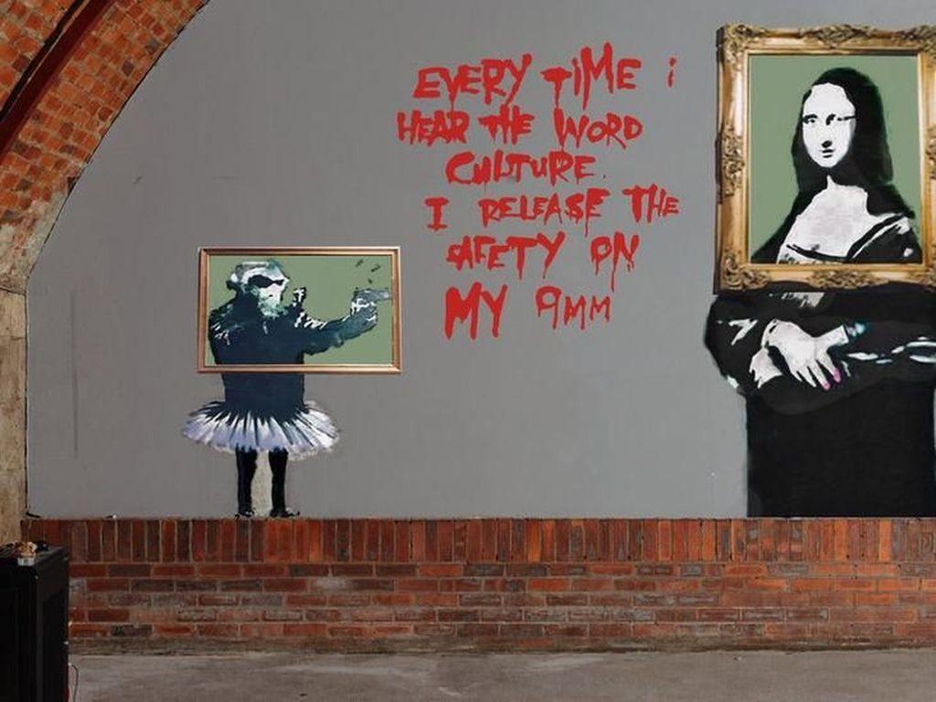 Usai Lukisan Rp 20 M, Banksy Posting Gambar Mirip Alat Kelamin