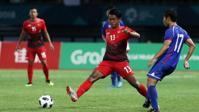 Febri Hariyadi saat membela Timnas Indonesia di Asian Games 2018 (Ary Kristianto/Antara)