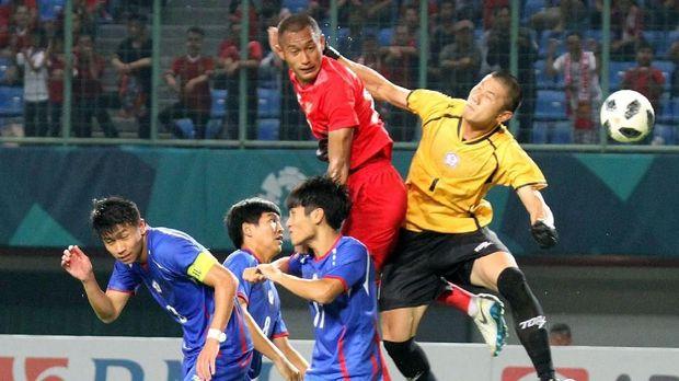 Timnas Taiwan dua kali beruntun kalah 0-4 di Grup A Asian Games 2018.