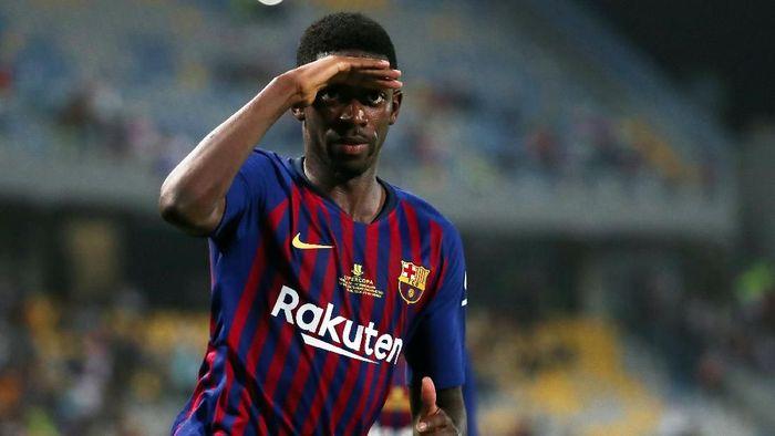 Ousmane Dembele belakangan disorot karena kebiasaannya datang terlambat (Foto: Sergio Perez/Reuters)