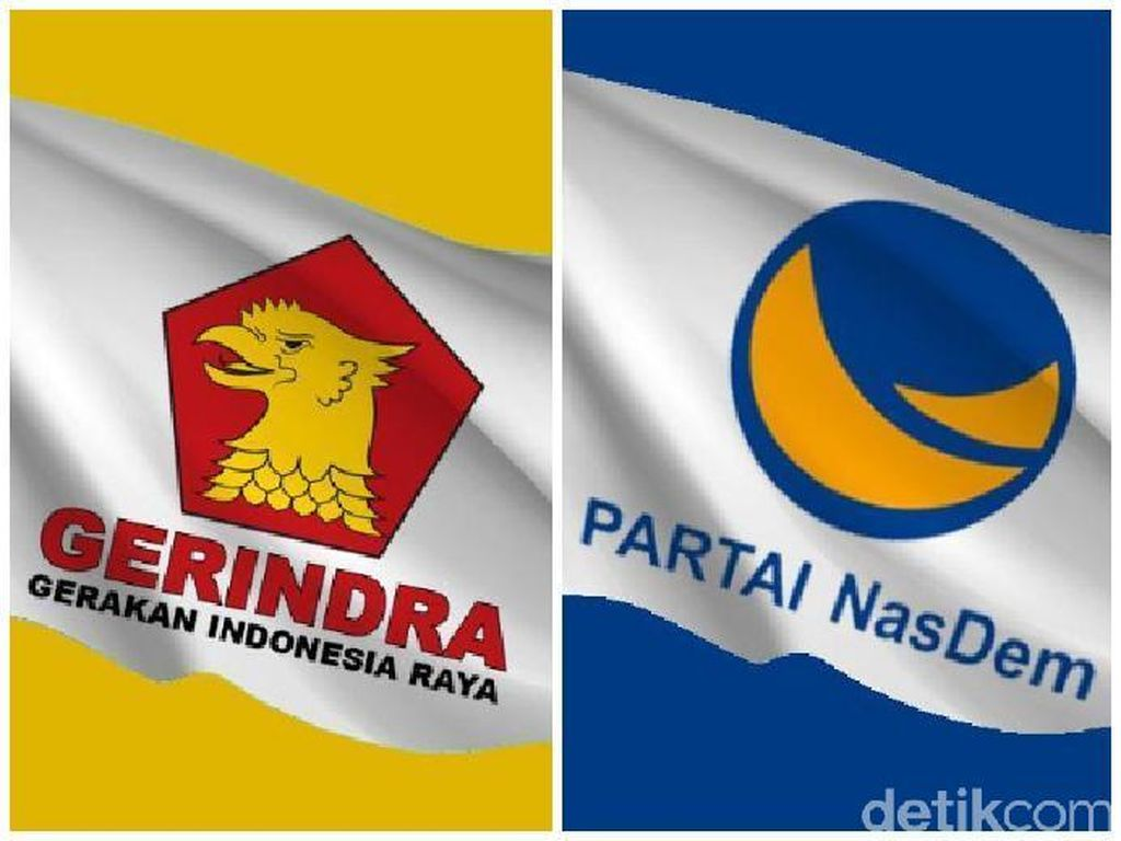 Gerindra vs NasDem Saling Ungkit Luka Masa Lalu