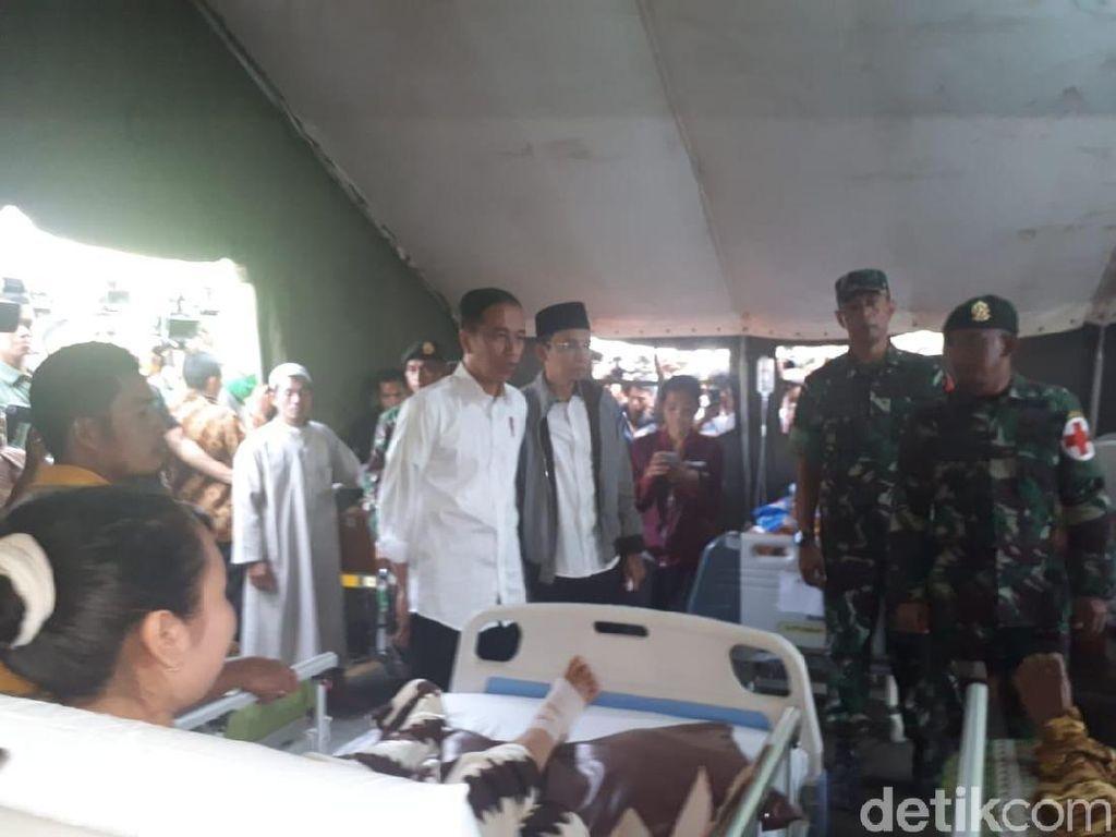Jokowi Kunjungi Tenda Pengungsi Korban Gempa di Lombok Utara