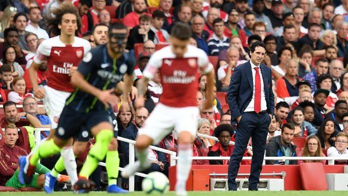 Arsenal kalah 0-2 dari Manchester City. (Foto: Michael Regan/Getty Images)