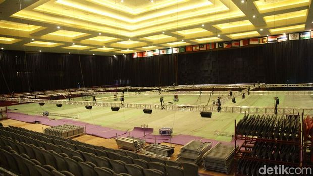 Venue Senam Asian Games  Di Jiexpo Kemayoran Belum Beres
