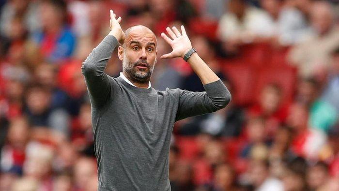 Josep Guardiola menghapus jatah libur pemain Manchester City setelah dianggap tampil mengecewakan saat menang atas Fulham (Reuters/John Sibley)