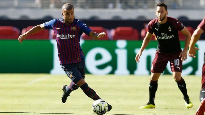 Rafinha (Barcelona) sempat dipinjamkan ke Inter Milan pada Januari 2018 sampai akhir musim 2017/2018. Kini Barca dan Inter sama-sama berada di Grup B. Foto: Lachlan Cunningham/Getty Images