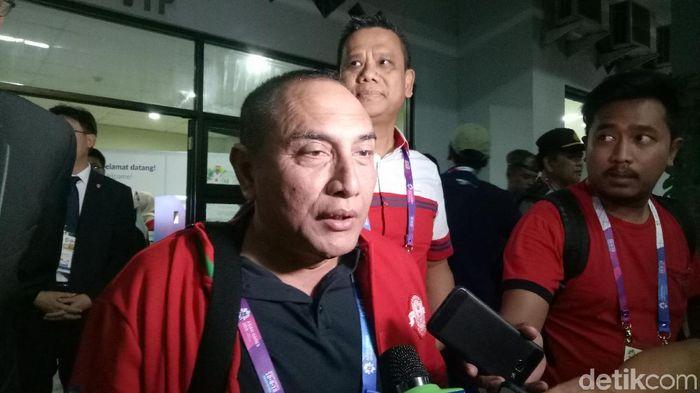 Edy Rahmayadi resmi jadi Gurnur Sumatera Utara, bagaimana posisinya di PSSI? (Randy Prasatya/detikcom)