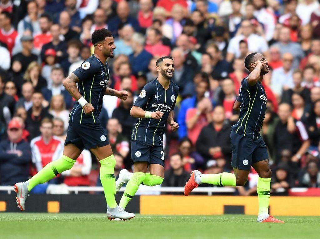 Apa Arti Selebrasi Gol Sterling ke Gawang Arsenal?