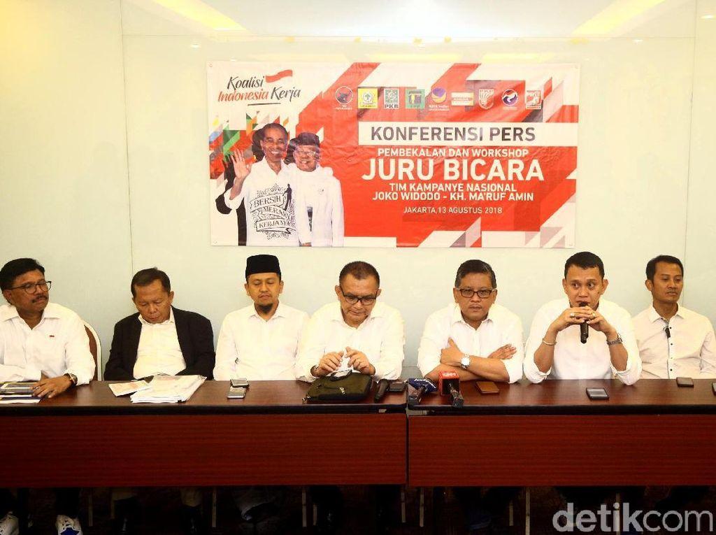 Partai Koalisi Indonesia Kerja Gelar Workshop Jubir Jokowi-Maruf Amin.