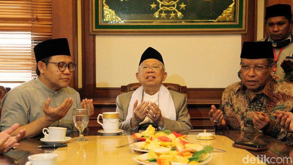 Sebelum Pergi Haji, Maruf Amin Silaturahmi ke PBNU