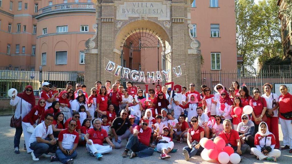 Ceria Merdeka di Roma Menyambut Peringatan HUT Kemerdekaan RI