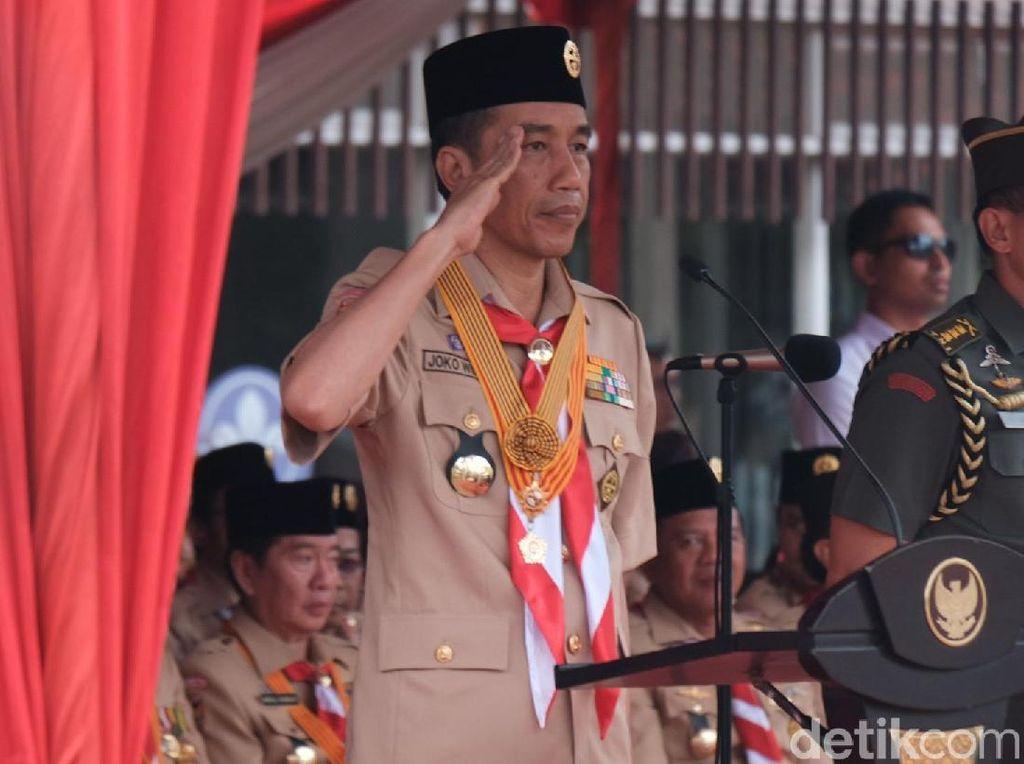 Jokowi: Pramuka Jangan Hanya Dididik Morse, tapi Juga Digital