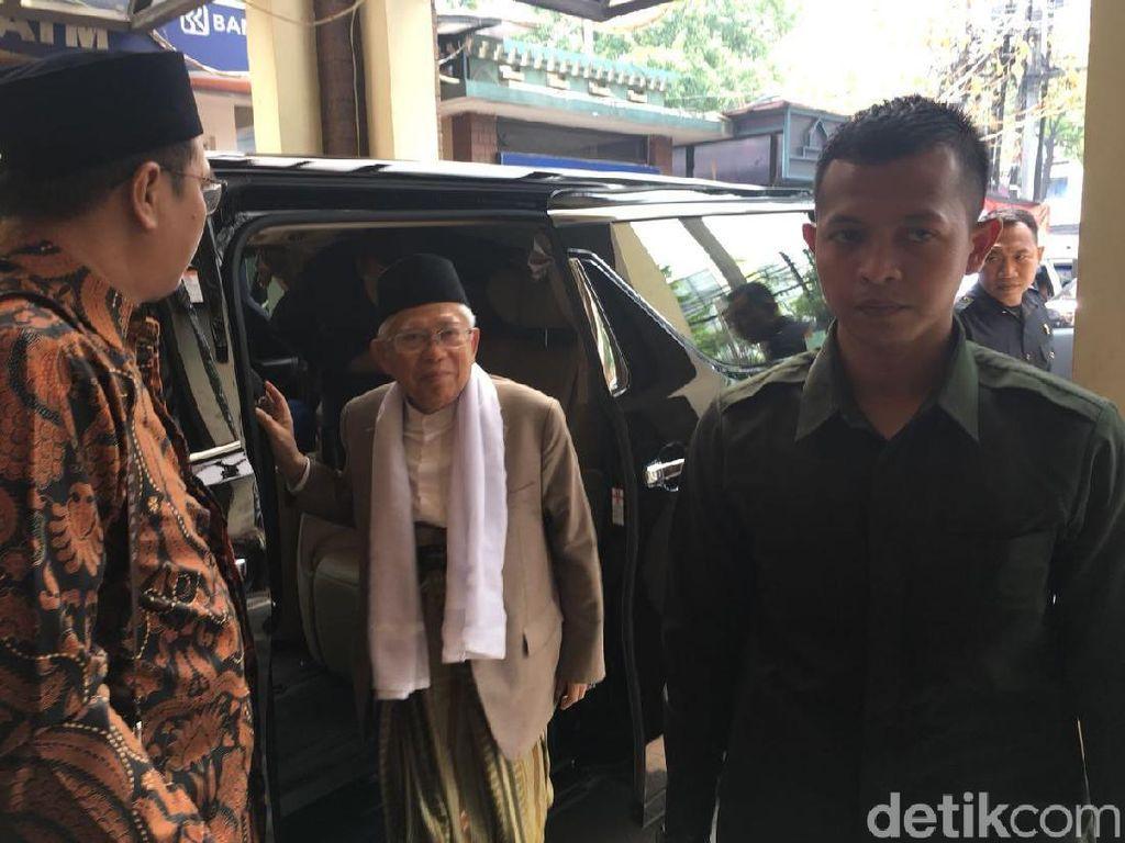 Maruf Amin Tiba di Kantor PBNU untuk Pamitan Pergi Haji