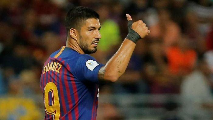 Luis Suarez sudah 328 menit tak menyumbang gol untuk Barcelona. Dia baru membukukan tiga gol musim ini. (Foto: Jon Nazca/Reuters)