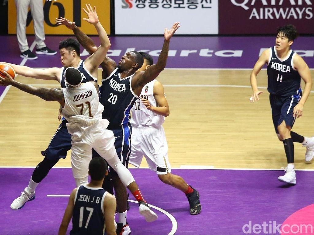 Tim Basket Putra Indonesia Kesulitan Adang Raksasa-Raksasa Korsel
