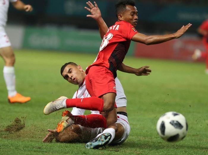 Indonesia dikalahkan Palestina dengan skor 1-2 di Asian Games 2018 (Foto: INASGOC/Charlie)