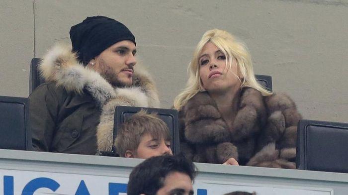 Keluarga Mauro Icardi ikut emosional jelang debut di Liga Champions (Emilio Andreoli/Getty Images)