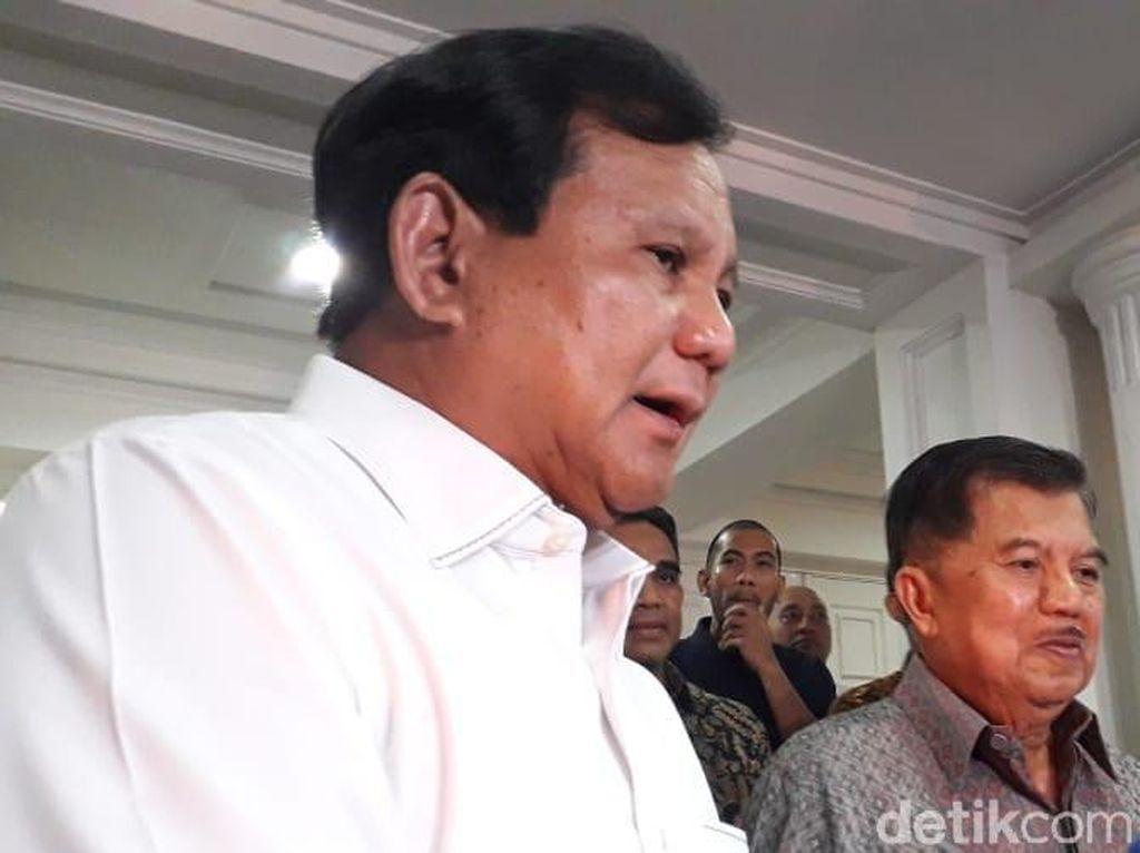 Usai Temui JK, Prabowo-Sandi Berencana Temui Jokowi
