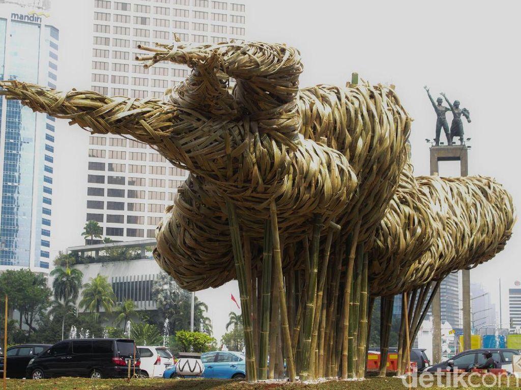 PDIP Sepakat Pemprov DKI Pajang Seni Bambu di Ruang Publik