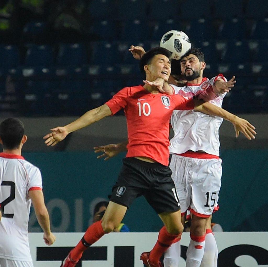 Hasil Sepakbola Asian Games 2018: Korsel Bantai Bahrain, Korut Imbang