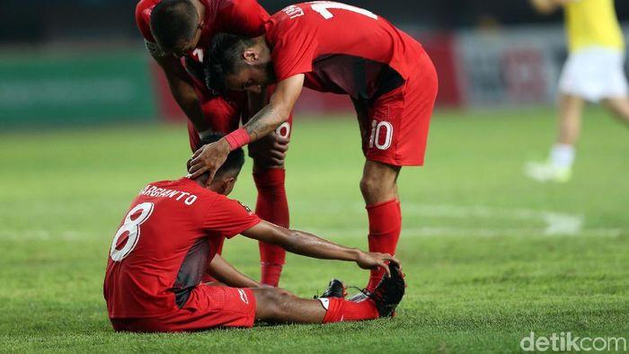 Timnas Indonesia U-23 diminta bangkit di dua laga tersisa (Agung Pambudhy/detikSport)