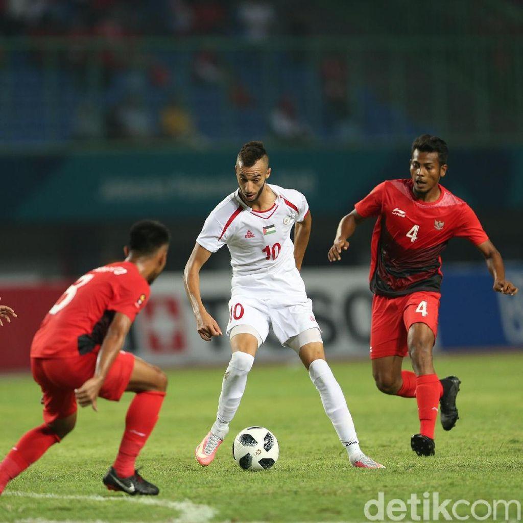 Indonesia vs Palestina Sementara Sama Kuat 1-1