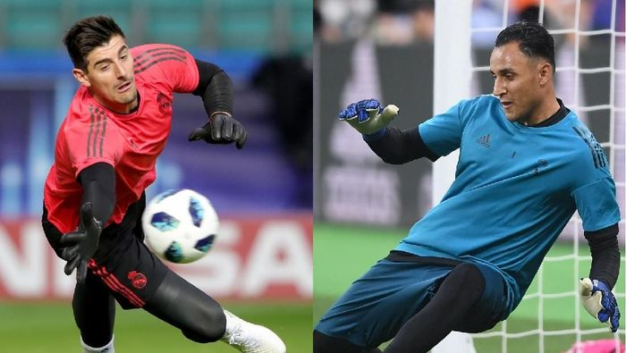 Thibaut Courtois dan Keylor Navas bersaing untuk posisi kiper utama Real Madrid. (Foto: Getty Images)