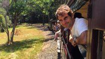 Foto: Gaya Liburan Petenis Roger Federer