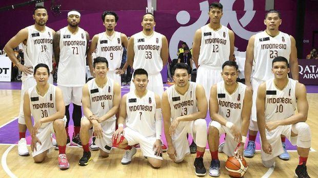 Tim basket Indonesia di Asian Games 2018. (