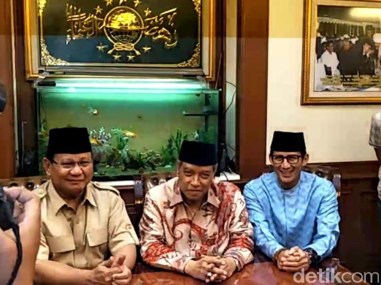 Susul Sandiaga, Prabowo Tiba di Kantor PBNU