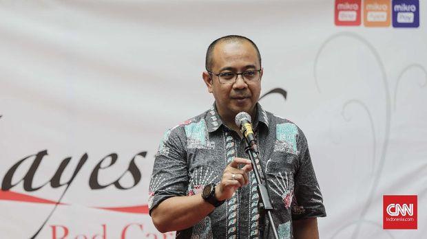 Direktur Utama PD Pasar Jaya Arief Nasrudin, di Pasar Mayestik, Jakarta, Kamis, 16 Agustus.