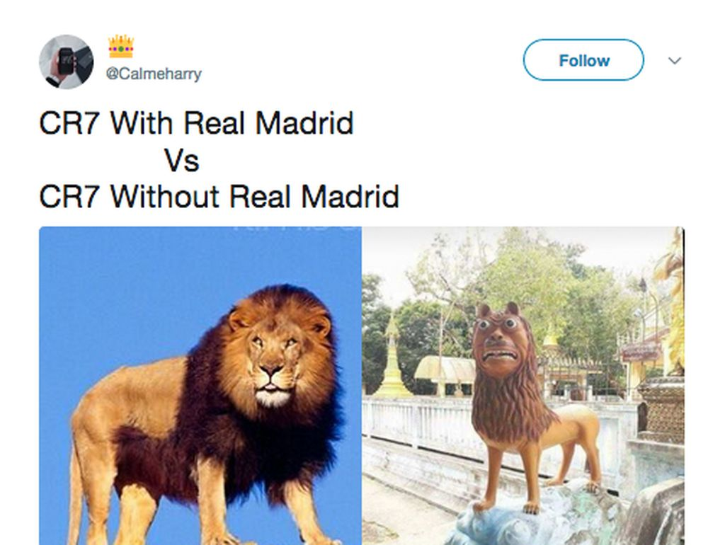 Parade Meme Fans Real Madrid Gagal Move On dari Cristiano Ronaldo