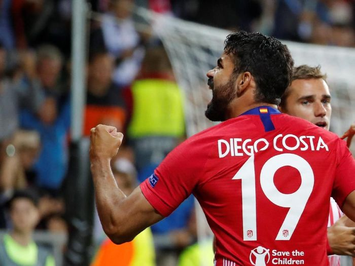 Diego Costa jadi Man of The Match Piala Super Eropa 2018 (Maxim Shemetov/REUTERS)