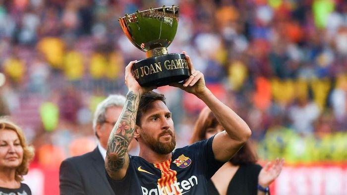 Barcelona menghadapi Arsenal memperebutkan trofi Joan Gamper (David Ramos/Getty Images)