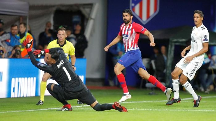 Diego Costa di laga Atletico Madrid vs Real Madrid di Piala Super Eropa 2018. (Foto: Maxim Shemetov/Reuters)