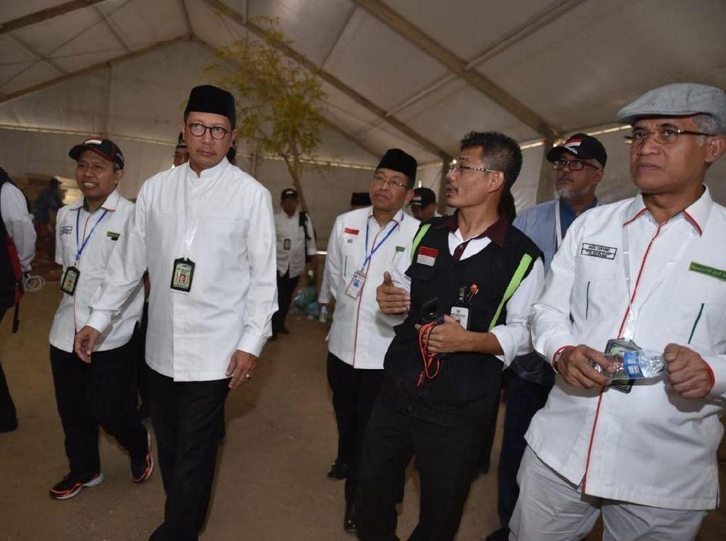 Menag Tinjau Arafah dan Mina, Pastikan Pelayanan Puncak Haji Optimal