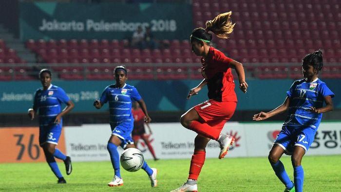 Timnas Putri Indonesia dinilai masih suka terburu-buru selesaikan peluang (INASGOC/Zabur Karuru/Ful/18)