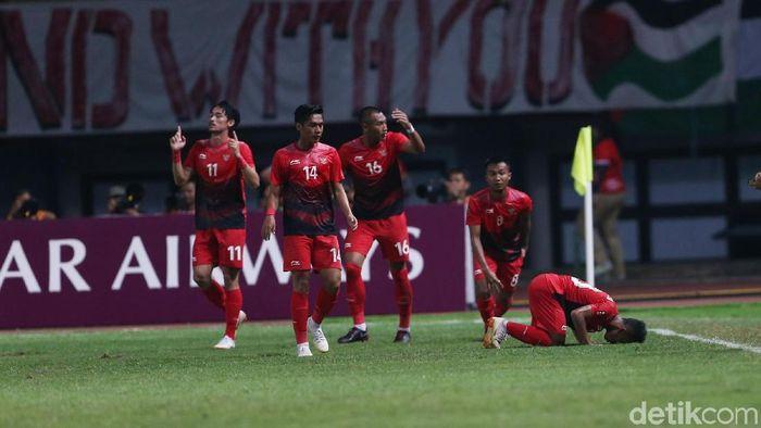 Tanding melawan Laos tanggal 17 Agustus, Timnas U-23 ingin memberi kado spesial di HUT RI ke-73 (Foto: Agung Pambudhy/detikSport)