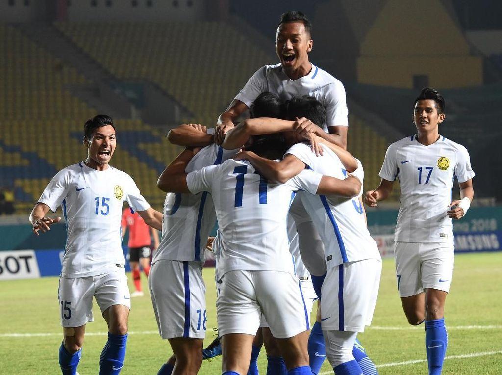 Hasil Sepakbola Asian Games 2018: Malaysia Kalahkan Korsel 2-1