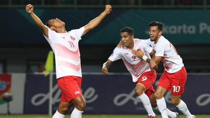 Indonesia mengalahkan Laos 3-0 di Asian Games 2018 (Foto: INASGOC/Charlie)